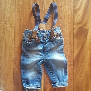 OshKosh jeans with suspenders